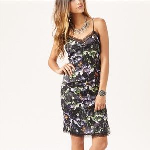 Sam & Lavi Anthropologie satin slip style dress